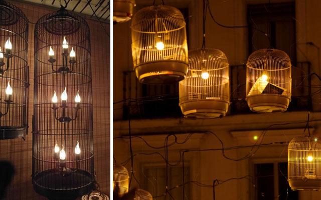 La madriguera del gatopornis reciclar una jaula vieja - Lamparas de decoracion ...