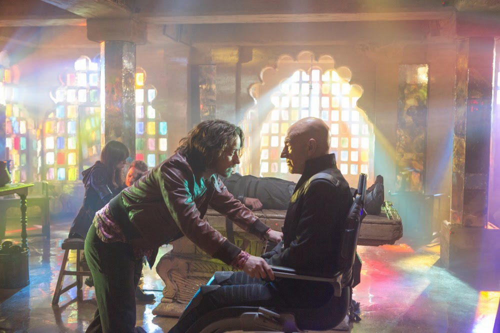 James McAvoy and Patrick Stewart in X-Men Days of Future Past