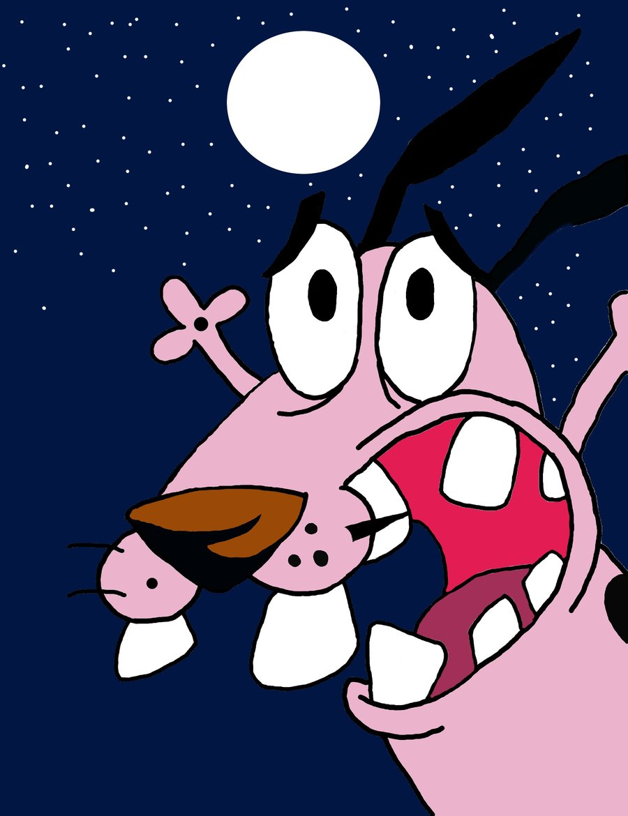 Courage the cowardly dog house wallpaper