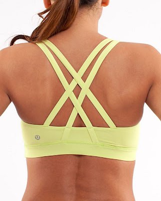 lululemon wild lime energy bra