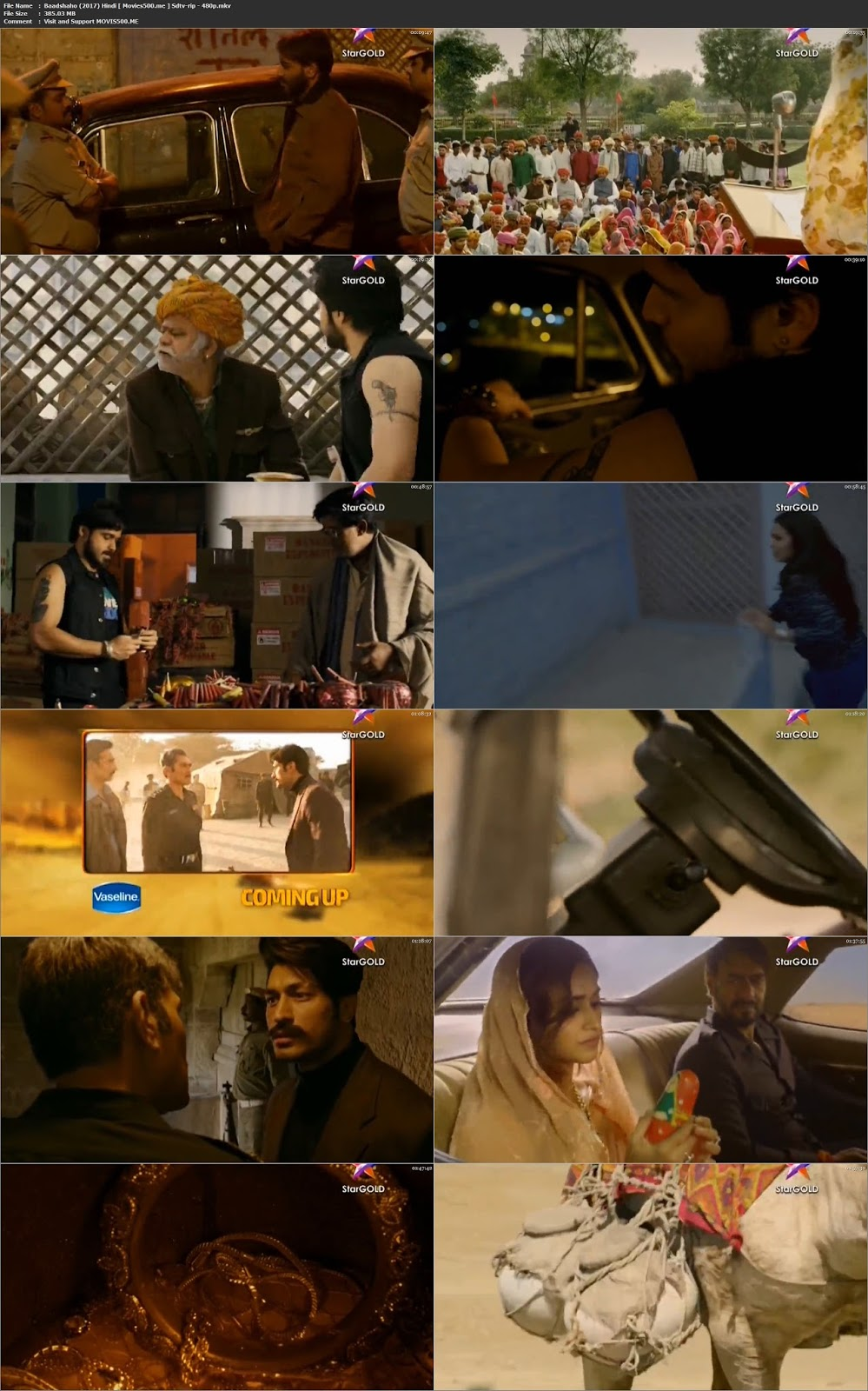 Baadshaho 2017 Hindi 226MB Mobile Download 480p at 9966132.com