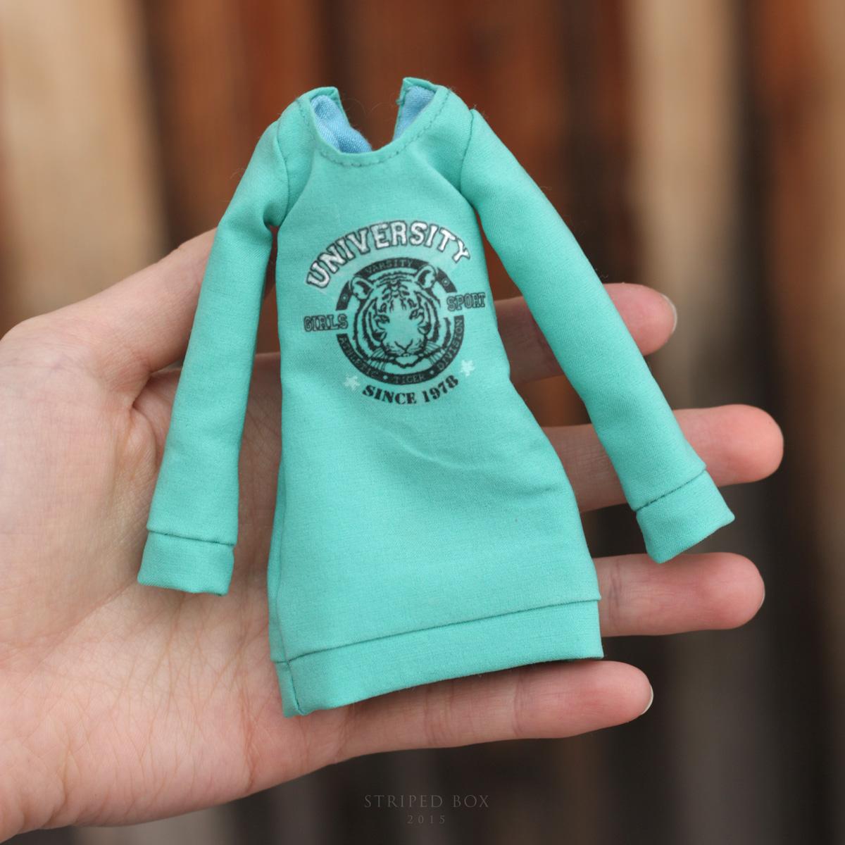 Свитшот для куклы: шьем стильную обновку Ярмарка Мастеров