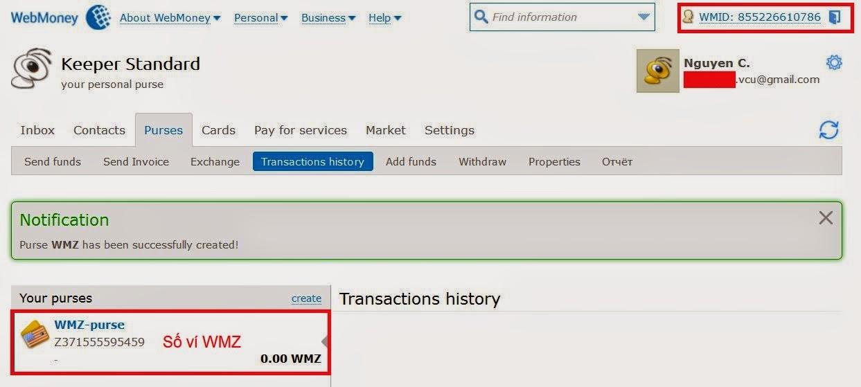đăng ký ví WMZ