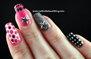 2true nail polish polka dot nails glitter stars