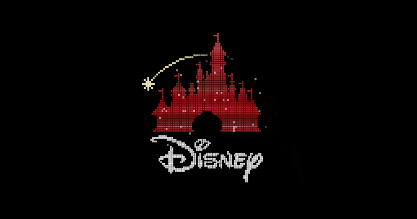 But check out that awesome 8-bit Disney castle  This looks like it    Disney Pixar Logo Castle