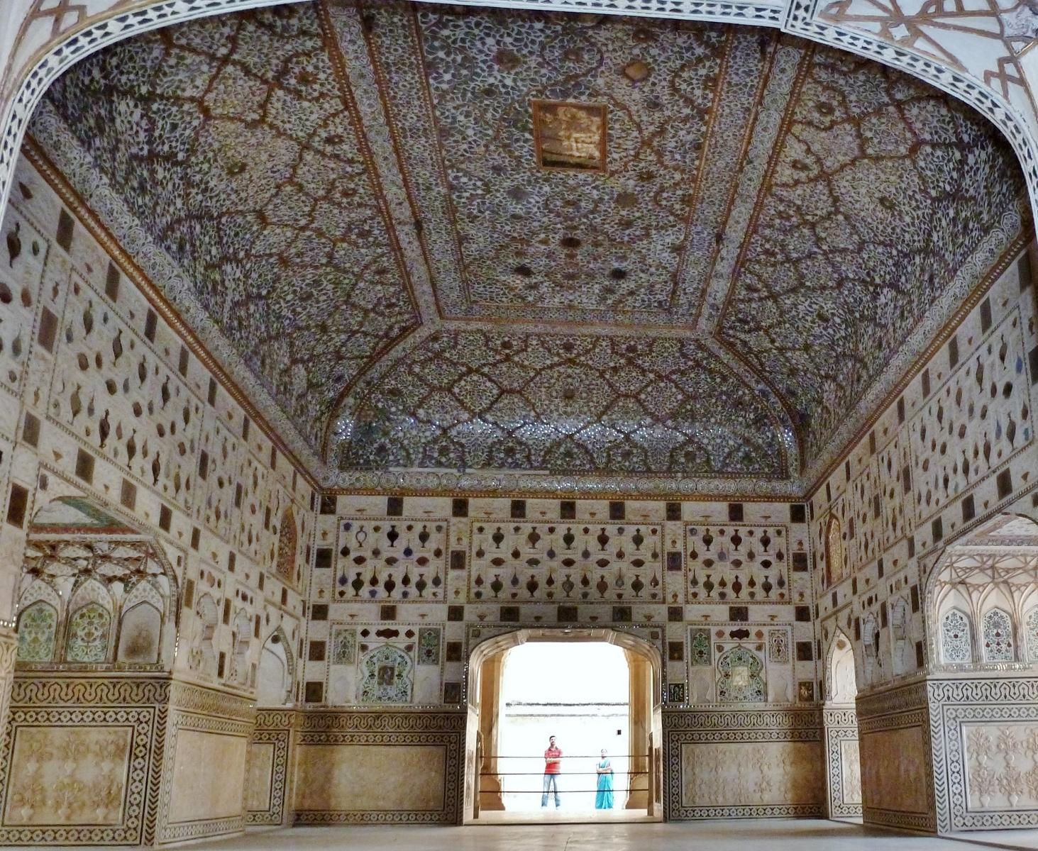 Inde namaste 4 avril 2012 fort d 39 amber amber fort for Dessin miroir bris