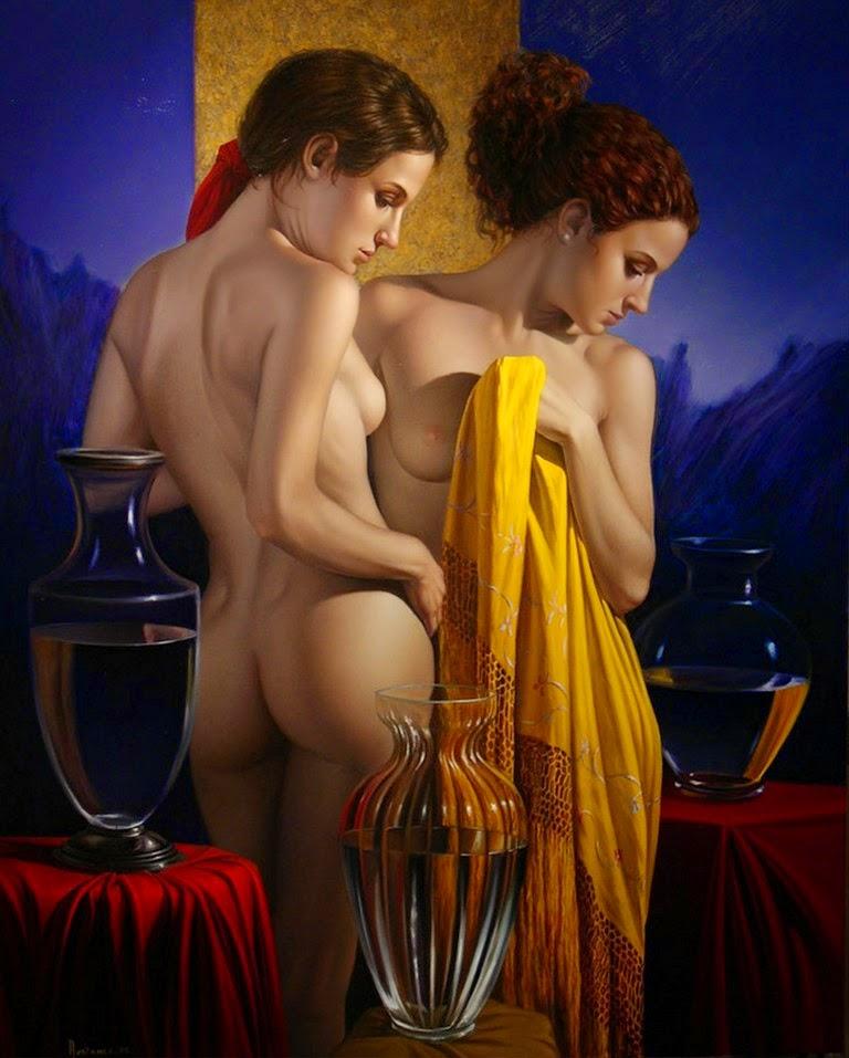 pinturas-de-arte-femenino-hiperrealista