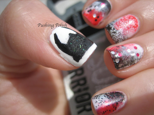 Warrior Dash nail art