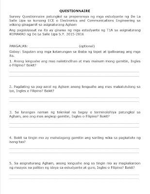 """kawalan ng interes sa asignaturang filipino Ika nga ng aking guro sa asignaturang filipino sa hayskul,""""ang pag-aaral ng wikang filipino ay hindi interes at pagpapahalaga sa mga kontribusyon n."""