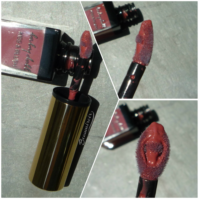 Yves Saint Laurent Baby Doll Kiss & Blush in Nude Insolent - cream blush and lipstick, the applicator