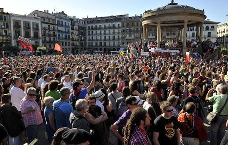 [EA, Aralar, Alternatiba e Izda. Aberzale] Manifestación en Pamplona en Defensa del Euskera en Alta Navarra 2012ek16.IdoiaArrietaEuropaPress