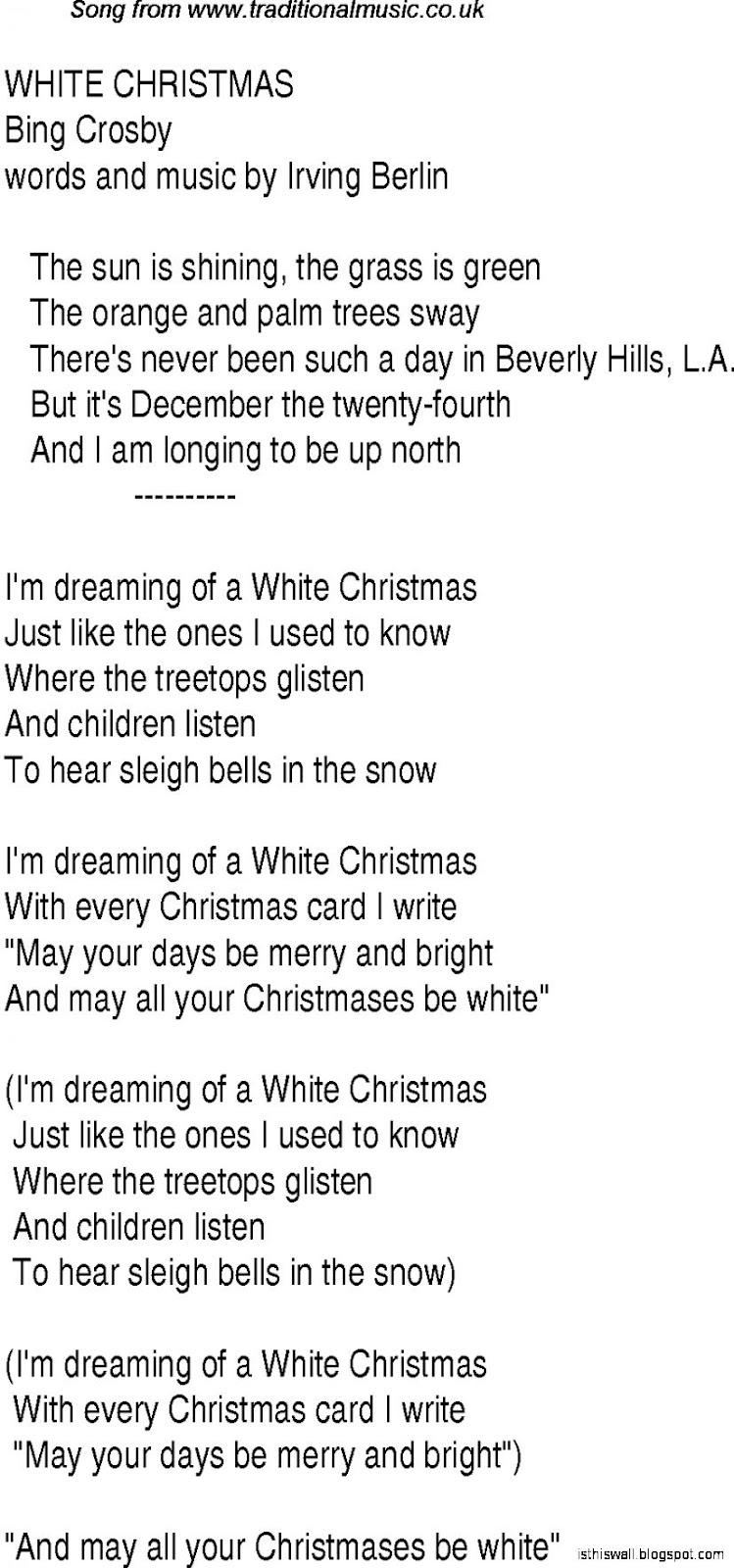 White Christmas Lyrics | This Wallpapers