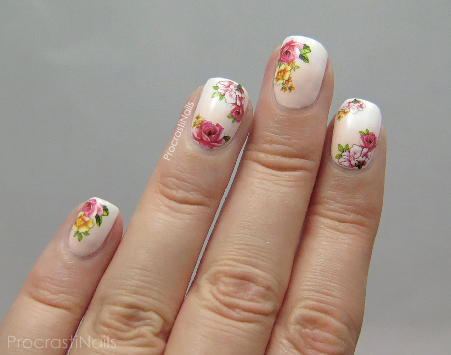 Dreamy Grant Nail Art With Fl Water Decals From Born Pretty