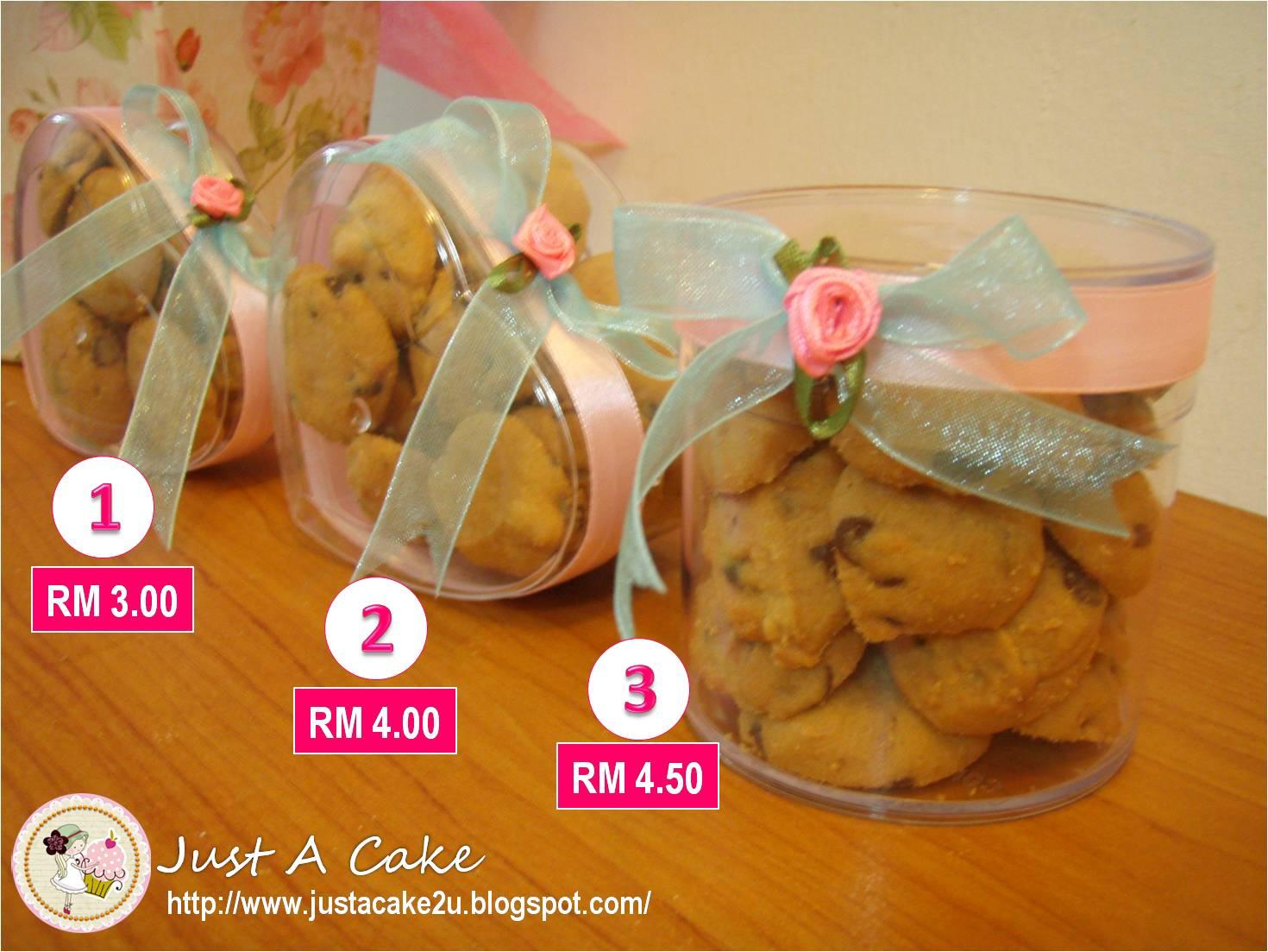 Just a cake door gift cookies for Idea door gift untuk vip