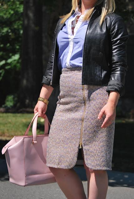 what to wear to work, jcrew sparkle tweed