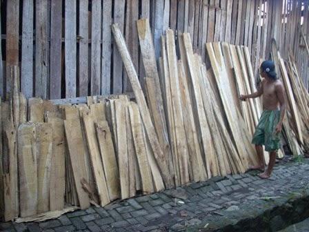 pengeringan kayu secara tradisional