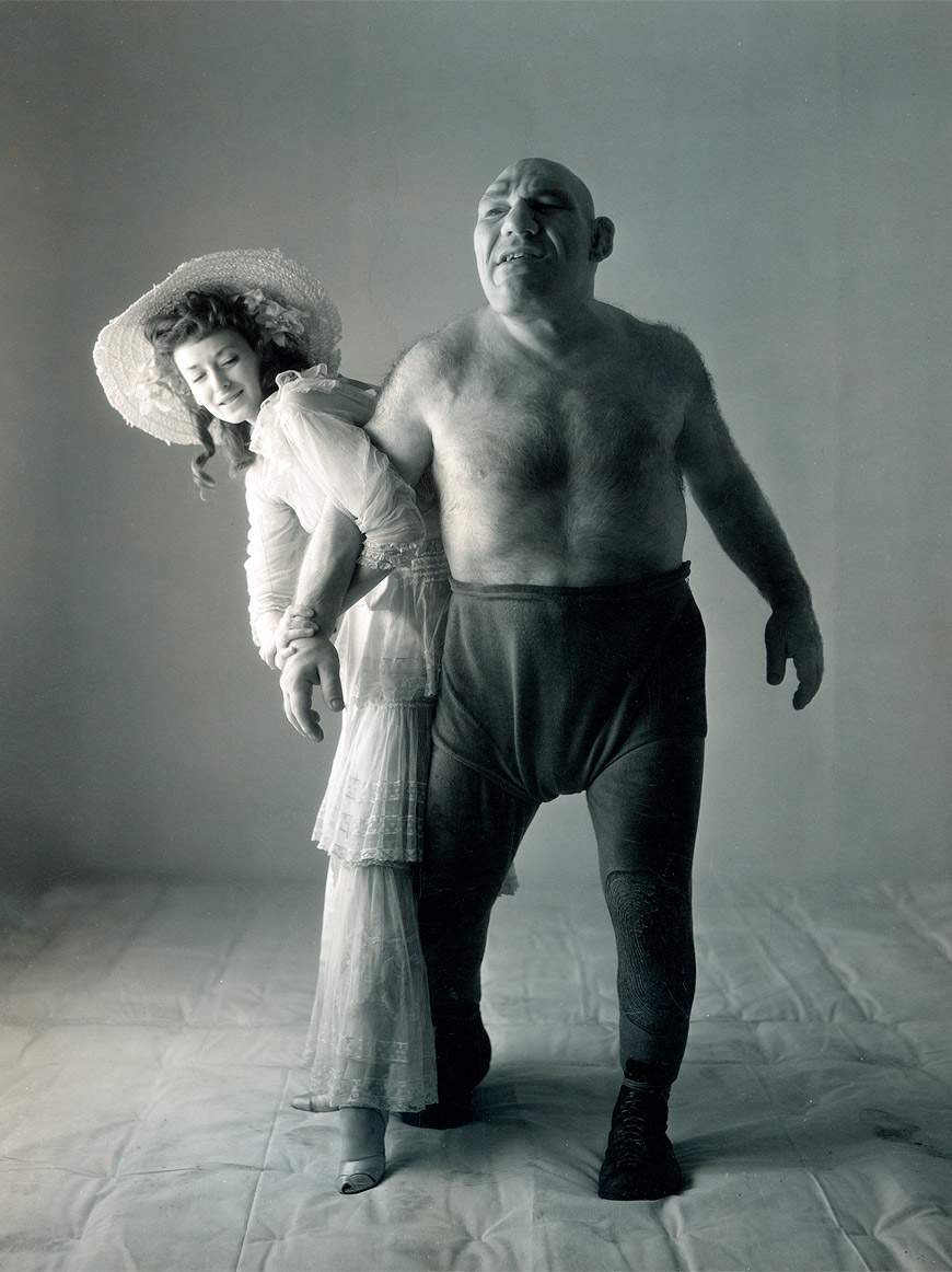 Maurice Tillet with his wife