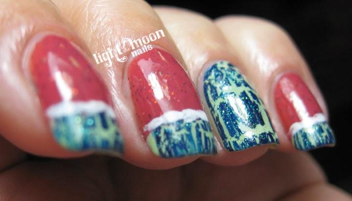 lWWatermelon-Nail-Art-Sonnetarium-Raspberry-Sorbet-Funky-Fingers-Teal-Scales