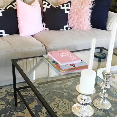 Pink Fur Pillow, Rose Quartz, Interior Design, Pink Living Room