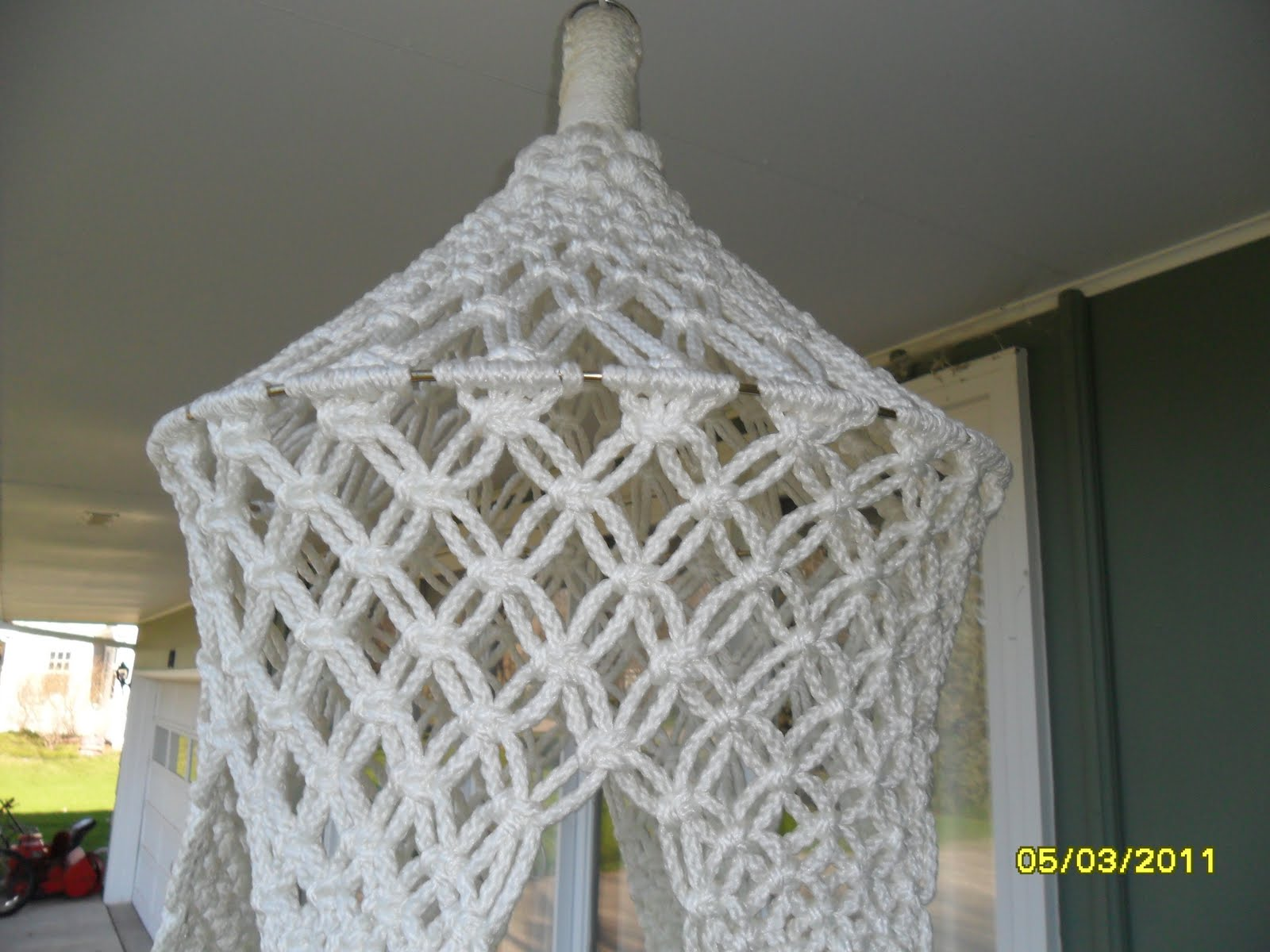 I Had Not Been Much Of A Fan Of Macrame When I Was Younger Until I Found  This Pattern In An Old Booklet. This Will Be A Hanging Table.