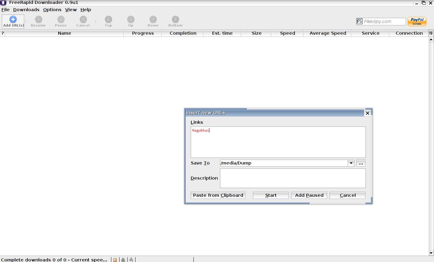 FreeRapid Downloader 0.9 Update,  , FreeRapid Downloader , freewares, DOWNLOAD MANAGER, ubuntu softwares, linux softwares,