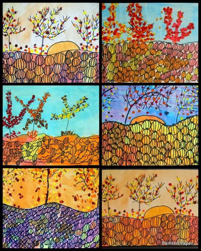 Artmuse67 autumn landscape art project ideas for Landscape art projects