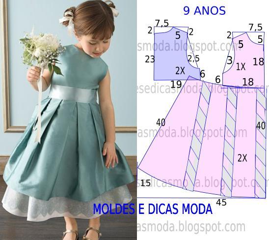 Нарядные детские платья и выкройками