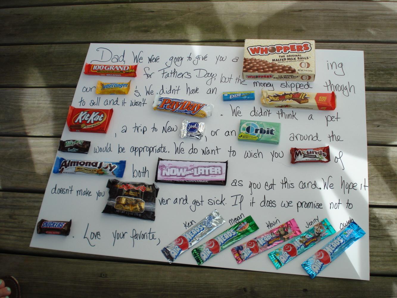 Candy Birthday Cards gangcraftnet – Candy Birthday Cards