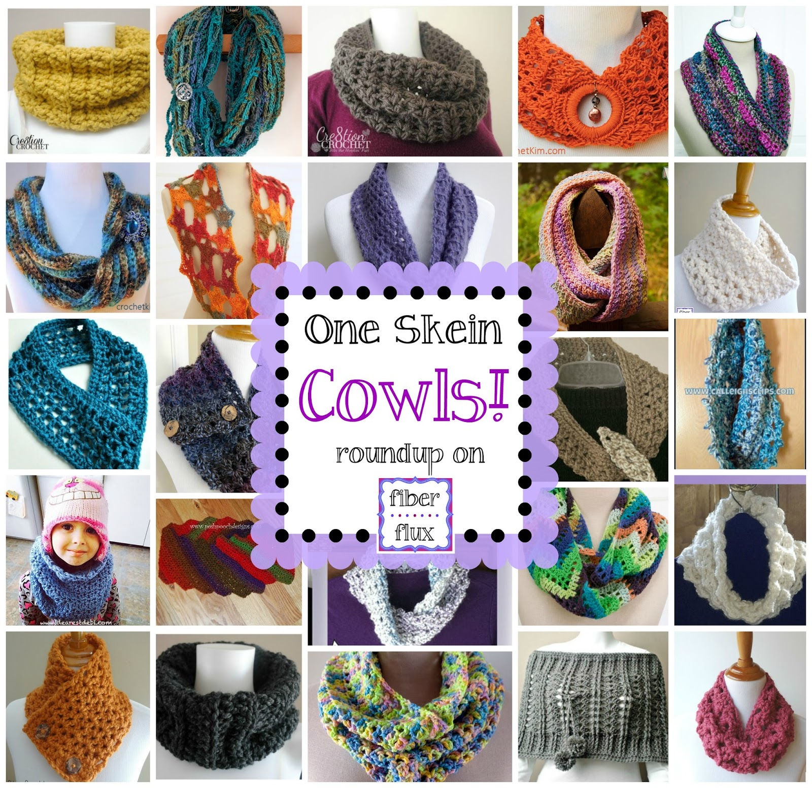 Fiber Flux: One Skein Cowls! 20+ Free Crochet Patterns...