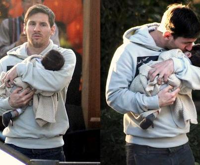 Thiago y Messi pasarán vacaciones en Rosario