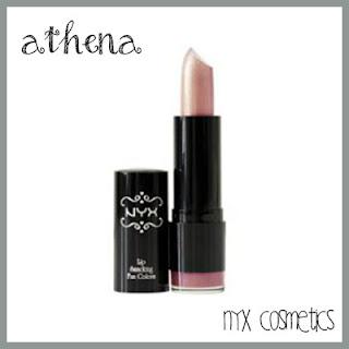 NYX lipstick athena pink