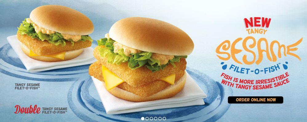 Mcdonald 39 s around the world tangy sesame filet o fish for Mcdonald s fish sandwich price