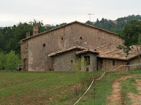 La façana nord de la masia La Font