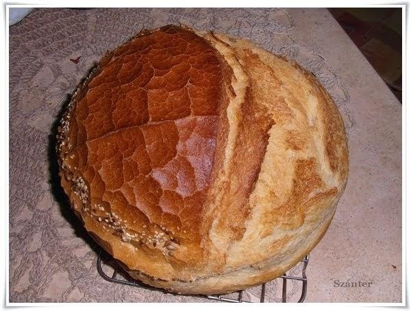 Szánter házi kenyér, recepttel.
