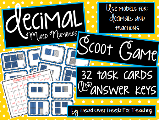 http://www.teacherspayteachers.com/Product/Decimal-Mixed-Numbers-Scoot-Game-Task-Cards-1092088