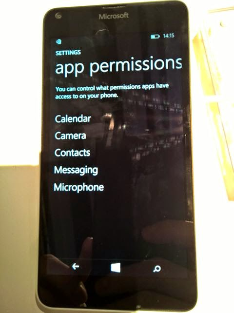 Lumia 640 app permission_pic1