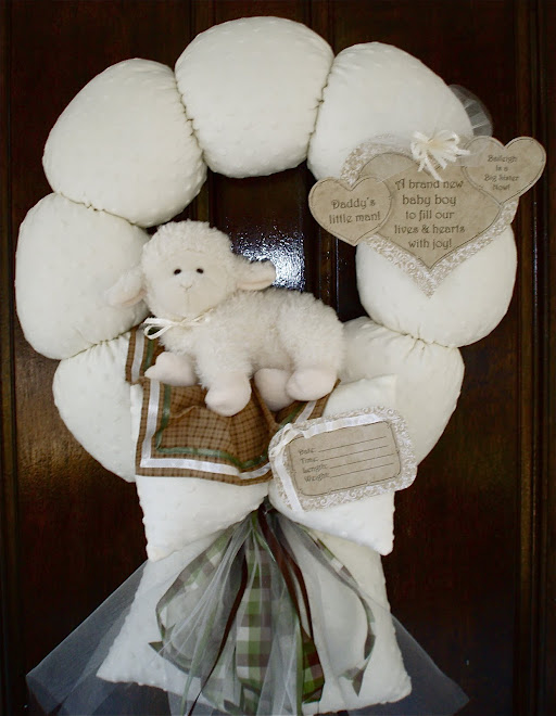 "97. Custom ""Daddy&#39;s little man"" baby wreath"