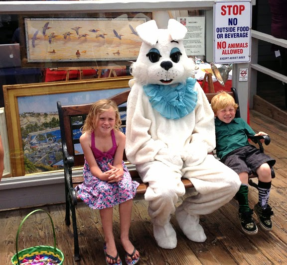 ids with Easter Bunny at Fisherman's Restaurant