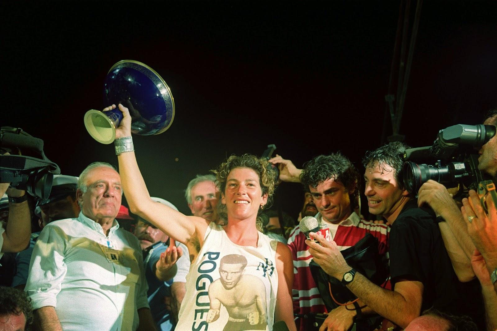 Florence Arthaud, vainqueur 1990 avec Pierre 1er.