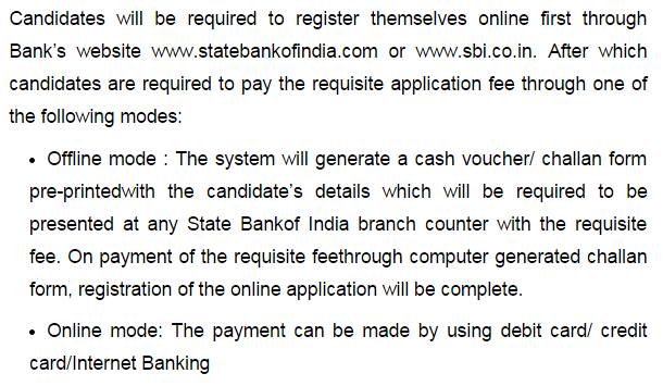 SBI PO Exam 2014 Application Process