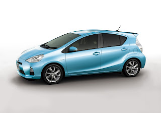 Exterior Side: Blue Color Toyota New Prius C / Aqua Hybrid