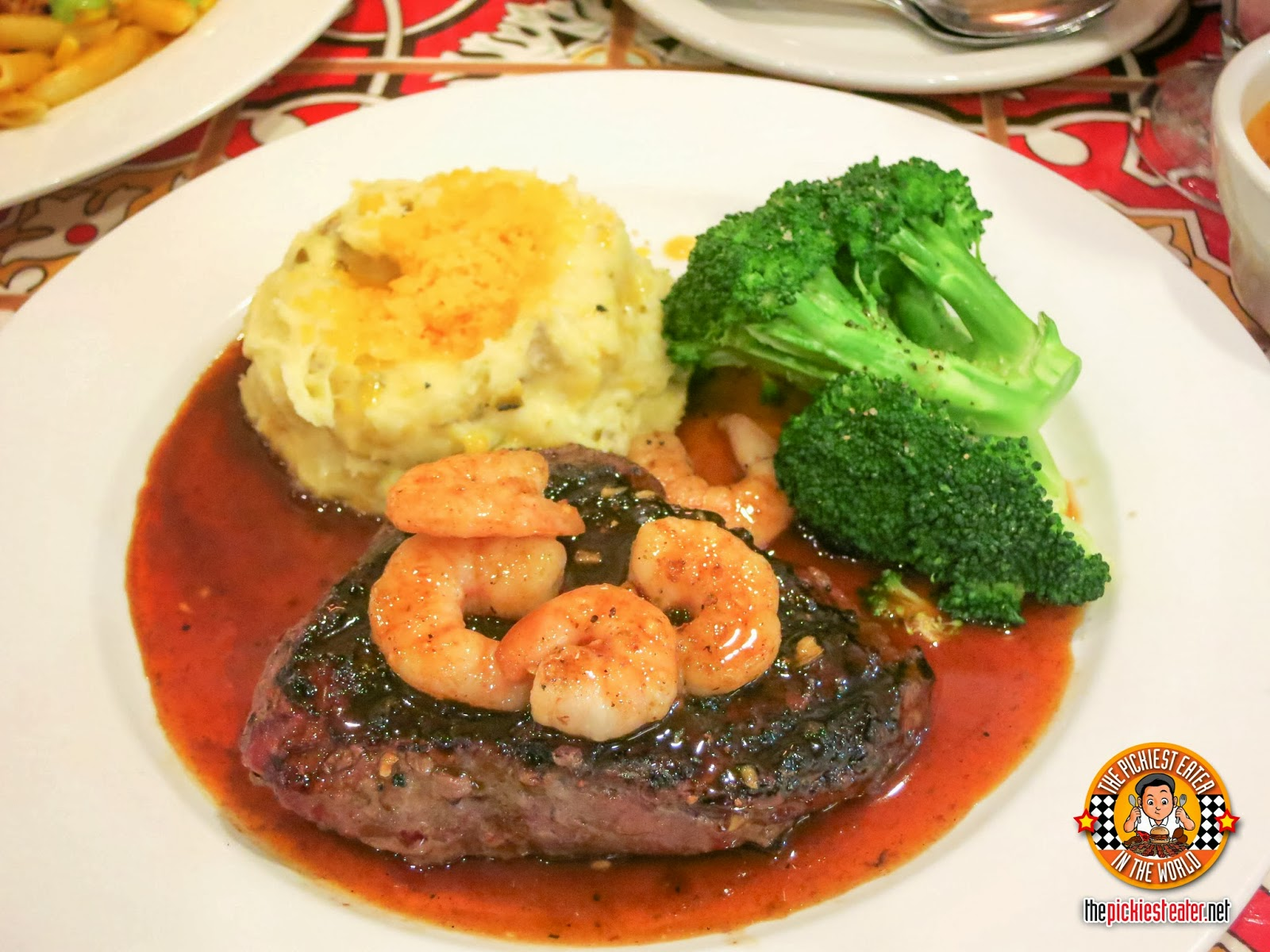 Steak with Chile Lime Shrimp