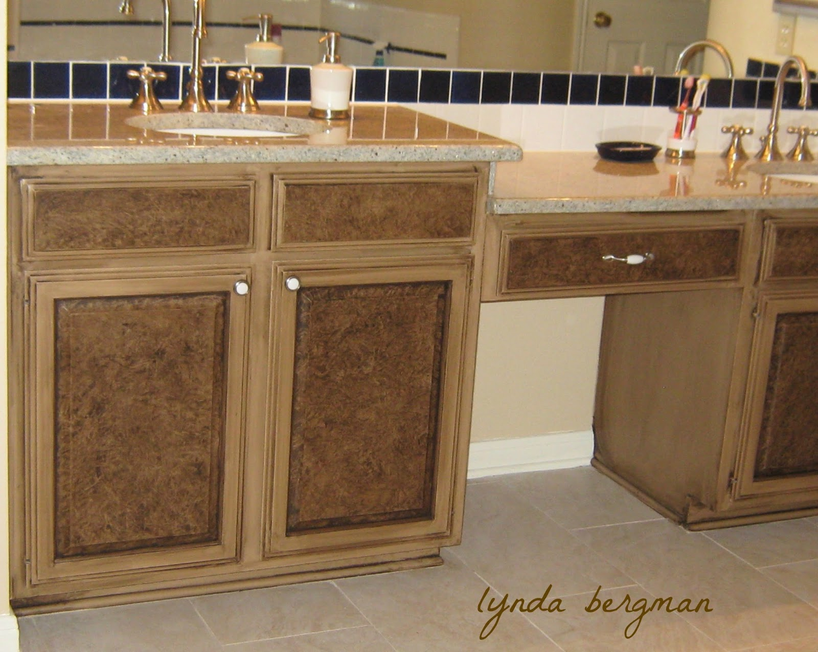 Lynda bergman decorative artisan december 2013 for White pickled kitchen cabinets