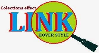 Link hover effect image