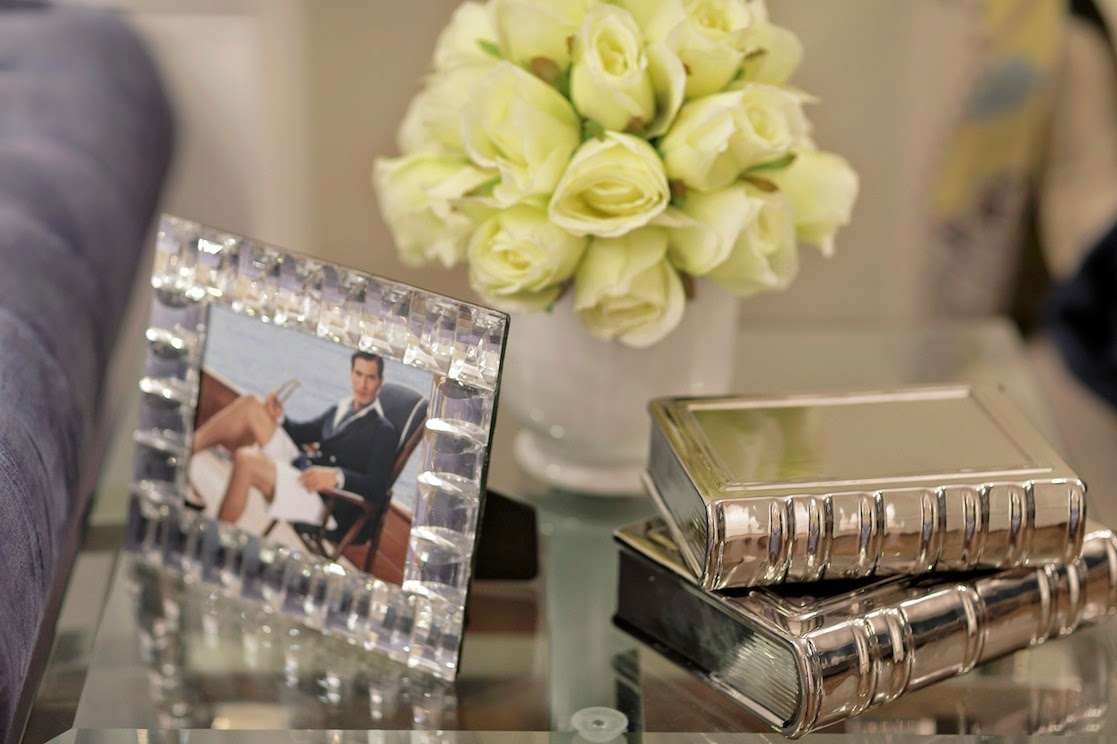 silver accessories frames interior