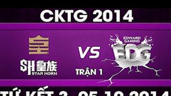 CK Thế Giới 2014 – Tứ kết 3, SHR vs EDG [BO5]