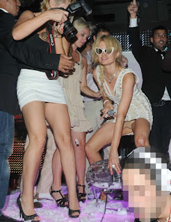 Paris Hilton Partying in a club