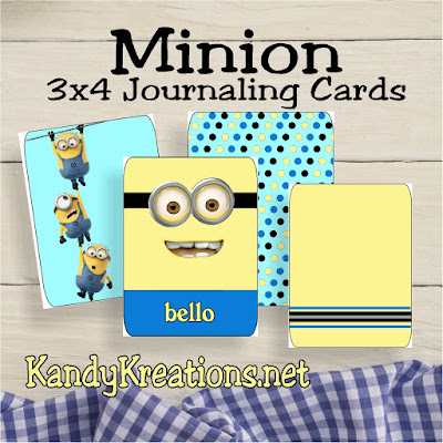 Scrapbook your family memories this weekend with these fun Project Life 3x4 Journaling cards. The minions will decorate your pages while you rule the world and enjoy your family.