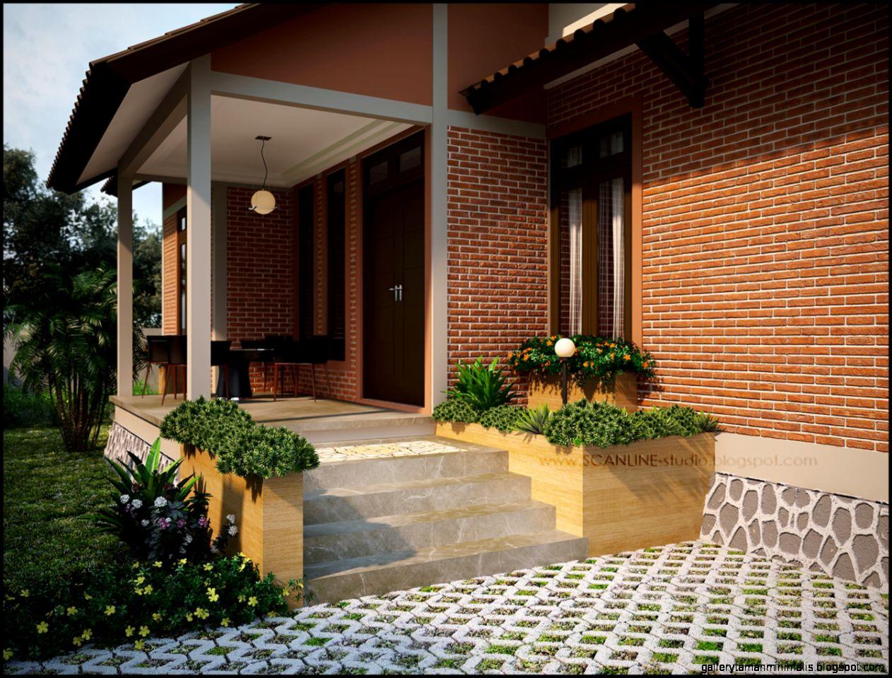 teras rumah depan gallery taman minimalis