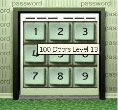 100 doors level 13 game trick